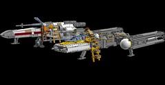 Yavin Base 1s=f (picardsbricks) Tags: lego starwars anewhope iv rogueone ywing xwing