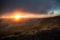 Uncertain Dawn (snazbaz) Tags: wales sunrise dawn mist cloud moody pen y fan mountain