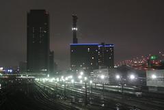 nagoya16105 (tanayan) Tags: urban town cityscape night view aichi nagoya japan    train yard jr tokai railway nikon j1