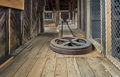 End of the Line (AKA Jake Nowry) Tags: rightofwayheadframe headframe inside architecture building mine mining silver cobalt