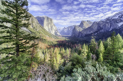 Tunnel View in Yosemite Valley (jgokoepke) Tags: tunnelview yosemitevalley yosemitenationalpark hdr mhdr winter clouds