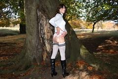 IMG_5274 (Kira Dede, please comment my photos.) Tags: kiradede kirad 2016 crossdresser copenhagen lingerie stockings upskirt dyrehaven