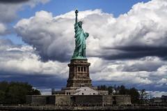 National Icon (Brandon Godfrey) Tags: newyorkcity nyc statueofliberty libertyisland clouds monument nationalmonument outdoor sky people scale usa unitedstatesofamerica unitedstates