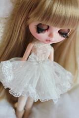 White petticoat for blythe dolls
