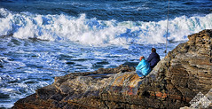 Desafiando al mar (JAGlez. & cia.) Tags: sea españa geotagged mar nikon oleaje galicia olas lugo hdr pescadores cantabrico barreiros photo:creator=joseaglez geo:lat=43554690 geo:lon=7163840