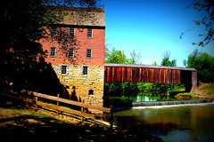 Easter Sunday at the Mill (Nux Pix (Beauty in the World Around You)) Tags: mill rural historic missouri coveredbridge watermill flourmill southernmissouri bollinger burfordville ruralmissouri bollingermill capegirardeaucounty