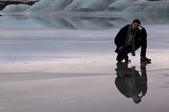 Albin penseur (Mi-crobe) Tags: winter ice iceland hiver reflet reflect iceberg glace islande photographe phographer pascalerousseau 60dcanon