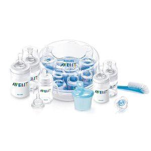 Philips AVENT Classic Essentials Gift 飞利浦新安怡新生儿奶瓶套装带消毒锅用券后$34.83