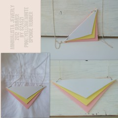 2012 Summer necklance by Szaszi 1 (szilviaszabo91) Tags: pink summer white yellow triangle jewelry minimalist pendant necklance 2012new