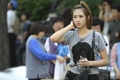 Korean Girl in the street (CyprienR) Tags: festival korea seoul 2012 coreenne