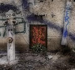 """""""A Nocturnal Opus"""" Between Hydrant and Down Pipe ~ Zwischen Fallrohr und Hydrant (hedbavny) Tags: wien streetart abandoned playground dedication hydrant painting graffiti nocturnal decay neglected pflanze ruine urbanexploration enjoy openspace grn urbanjungle rohr bltter farbe derelict geschenk feuerwehr opus spiel beton mauer spielplatz urbex zementwerk freezone wasserhahn nachtwerk regenwasser freespace zementfabrik verfall concreteplant verwelkt gemlde entfaltung fallrohr vertrocknet geschlossen kreativitt widmung freiraum bewsserung industrieruine anschlus aufgelassen vergngen maigrn entwsserung sterreichaustria sprhen rinnen aktivitten anschlusstelle hansbauer asphaltveilchen dachentwsserung roomfordevelopment scopeforfreedom areaoffreedom schlauchanschlus nutzwasser franzjosefhansbauer"""