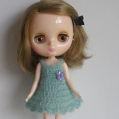 Sea Green Crochet Slip Dress for Middie Blythe