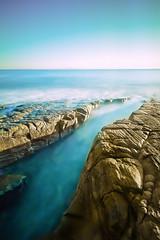 As I'm breaking in two (Matthew Post) Tags: longexposure sea seascape misty rocks post matthew australia queensland noosa milky channel electricblue noosanationalpark weldingglass 10stop matthewpost matthewpostphotography