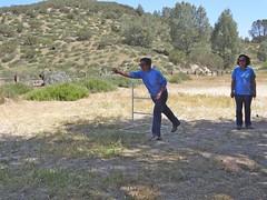 ladder golf barb (maureenld) Tags: camping friends game fun 40th bash may db barbara annual yana pinnacles 2012 pinnaclesnationalmonument bethereorbesquare laddergolf desertbash btobs