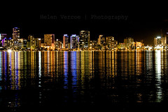 Leading Lines (Helen Vercoe) Tags: city skyline night reflections lights cityscape colours nightscape australia perth nightsky shimmer perthwa