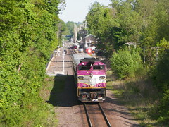 MBTA (Littlerailroader) Tags: railroad train ma reading publictransportation massachusetts newengland trains transportation locomotive mbta trainspotting locomotives railroads mbcr passengertrains readingmassachusetts