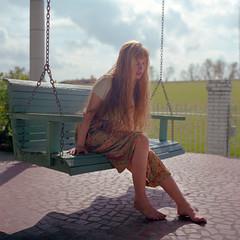 Nettie_Harris_021 (patofoto) Tags: woman color 6x6 film square fuji squareformat sl66 femenine rolleiflexsl66e