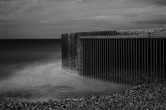 _ (Ed Thuell) Tags: longexposure sea blackandwhite seascape beach coast brighton brightonmarina leefilter