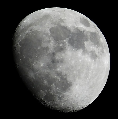 Waxing Gibbous, 87% of the Moon is Illuminated on a partly cloudy May 21, 2013 taken with a FUJI HS50EXR DSCF0882