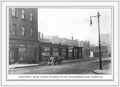 1914 About 15th and Market Condemed for Parkway, St. Louis, MO (carlylehold) Tags: house beer station st louis blossom union