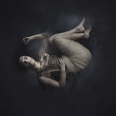 in time we pass (brookeshaden) Tags: woman art water girl dark education mud birth fabric workshop teaching kiddiepool rebirth behindthescenes tulle beforeafter burlap fineartphotography conceptualphotography milkywater creativelive fairytalephotography brookeshaden whimsicalphotography brookeshadenphotography