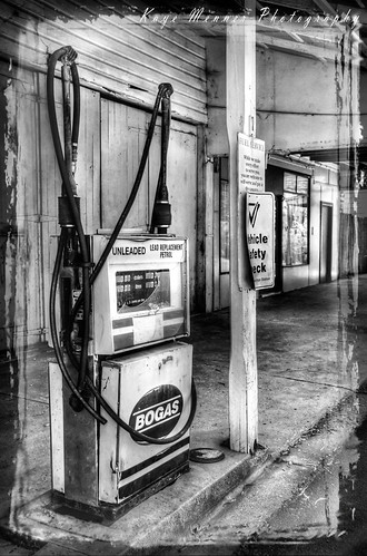 Old Fuel Pump - Black and White
