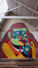 Bourges, France (kashink) Tags: gay streetart france colors cake graffiti bourges mural gaymarriage foureyes kashink