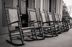 Rocking Chairs (_Codename_) Tags: blackwhite chair nashville tennessee porch plantation rockingchair rockingchairs bellemeadeplantation bellemeade splittoning