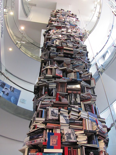 A tower of Lincoln Books