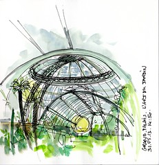 l'art du jardin, Grand palais 3 Paris France (julietteplisson) Tags: aquarelle arbres vegetation croquis grandpalais