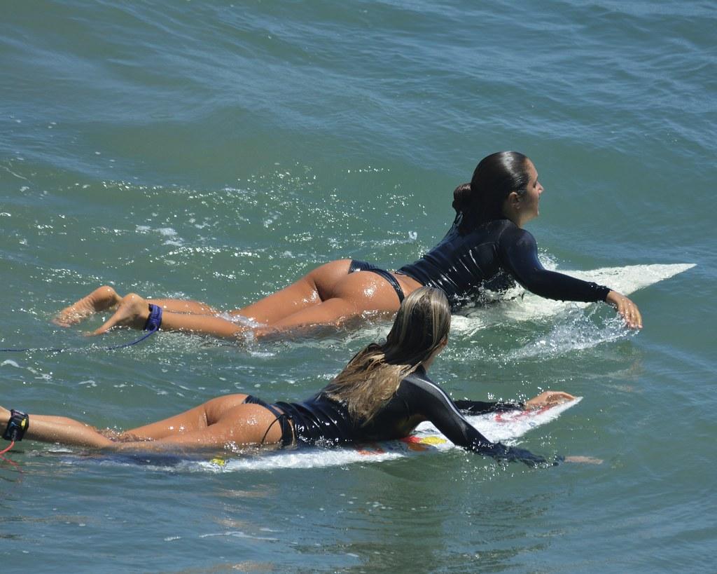 Remarkable, Bikini surf board join. All