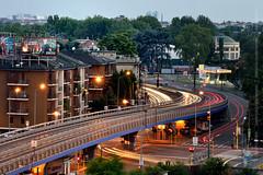 Speed of city (Francesco Langiulli) Tags: auto light milan car speed traffic milano ponte luci serra traffico cavalcavia ghisolfa