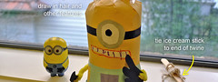 Minion (bigbrownmonster) Tags: party monster daddy fun toy design education child handmade creative craft parent homemade gift kawaii handcrafted  recycle ideas   preschooler     minion        stayathome         despicableme  bigbrownmonster wilkietan