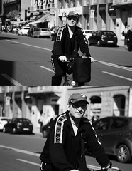 [La Mia Citt][Pedala] parecchio nelle Domeniche a piedi ... (Urca) Tags: portrait blackandwhite bw italia milano bn ciclista biancoenero bicicletta pedalare 2013 dittico ritrattostradale domenicheapiedi 575108