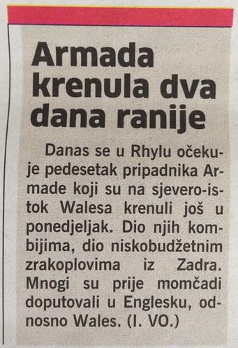 Armada krenula dva dana ranije (Novi List, 25.07.2013)