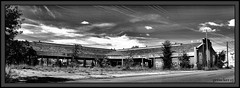 Chene Market (the Gallopping Geezer 3.8 million + views....) Tags: bw white black building abandoned canon ruins closed decay michigan detroit structure faded vacant worn derelict deserted decayed geezer 2013 tonemap
