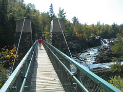 Jay Cooke State Park swinging bridge across St. Louis River