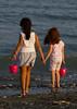 The Stone Collectors (Michaelou Photography) Tags: girls sea stone kids bucket cyprus larnaca