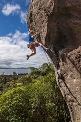 Dwarf Tosser (gomezthecosmonaut) Tags: newzealand bob climbing rockclimbing whanganuibay evendwarvesstartedsmall routeclimbing samyang14mmf28 sonynex7