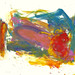 2008 - 'After Monet 2', an abstract, colorful watercolor painting on paper - art