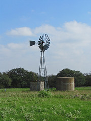Texas Windmill Wednesday (RootsRunDeep) Tags: ranch sky windmill clouds rural texas farm country