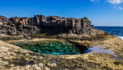 Dreamy rock pool. Costa Caleta de Fuste Fuerteventura. (CWhatPhotos) Tags: pictures blue sea sky costa sun holiday hot pool field swim that de lens photography eos spain rocks warm skies foto dof view image artistic time zoom pics fuerteventura horizon picture rocky sunny pic images september have spanish photographs photograph fotos sept which depth contain rockpool hol deepblue caleta crag 18200mm 2013 fuste canon7d cwhatphotos