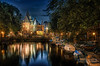Night out in Amsterdam (Wameq R) Tags: light red amsterdam night canon dark canal district tripod 5d nightshots hdr hdri manfrotto 24105 24105mm 5dmarkiii 5dm3 blinkagain hdrefex 5dmiii