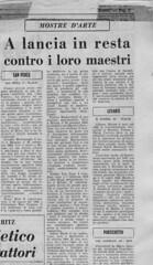 1966 Giu-Nuove Tendenze -Articolo Giornale-Galleria S