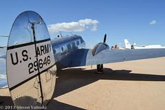 Beechcraft UC-45J Expeditor (azspyder) Tags: army tucson beechcraft beech c45 expeditor 29646 uc45j pimaairspace pimaair