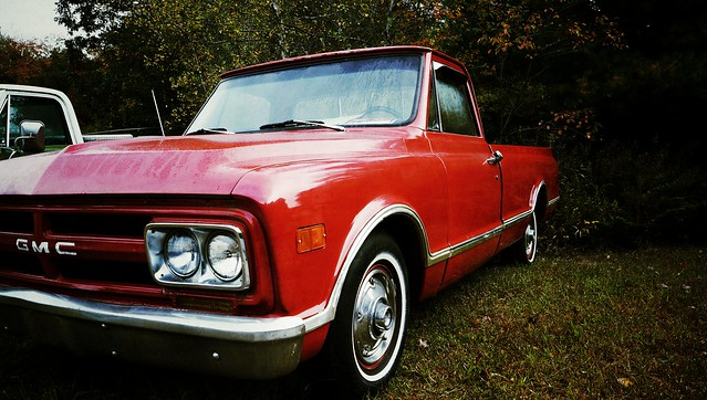 red truck pickup 1968 gmc c10 fosterri flickrandroidapp:filter=none