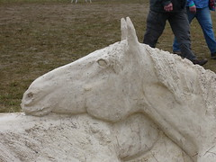 Blenheim Sand Sculpture (Mary Kelly's photos) Tags: sculpture horse sand blenheim trials 2013