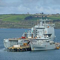 RFA Mounts Bay and HMS Enterprise (Tim Green aka atoach) Tags: cornwall falmouth