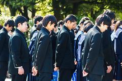 School children paying respects at Children's Peace Monument | Hiroshima, Japan (Faithful Freja) Tags: monument japan children uniform asia respect hiroshima schoolchildren sadakosasaki