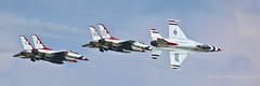 Peeling Away (Mellon 99) Tags: sky usa airplane us airport aircraft air airshow thunderbirds airforce usaf mellon99photography davemellon